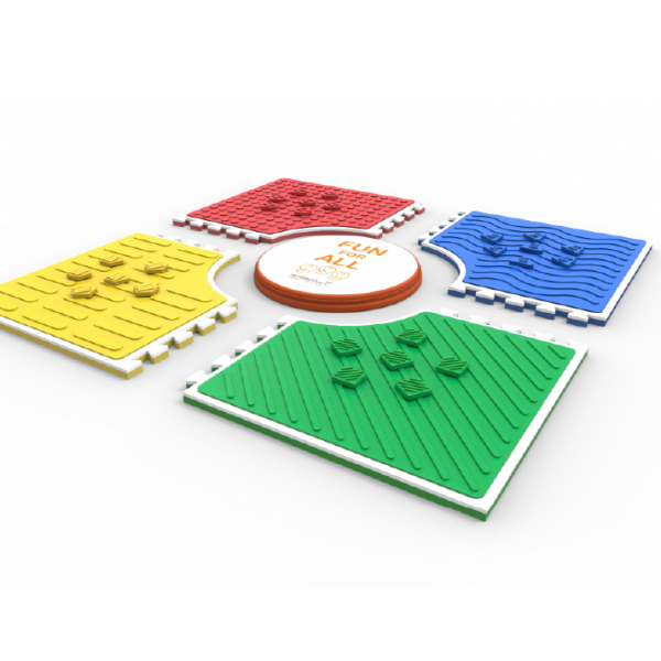 reach match braille learning and sensory play mat