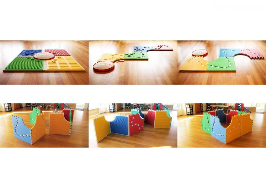 reach and match mats are arranged in different horizontal and vertial configurations